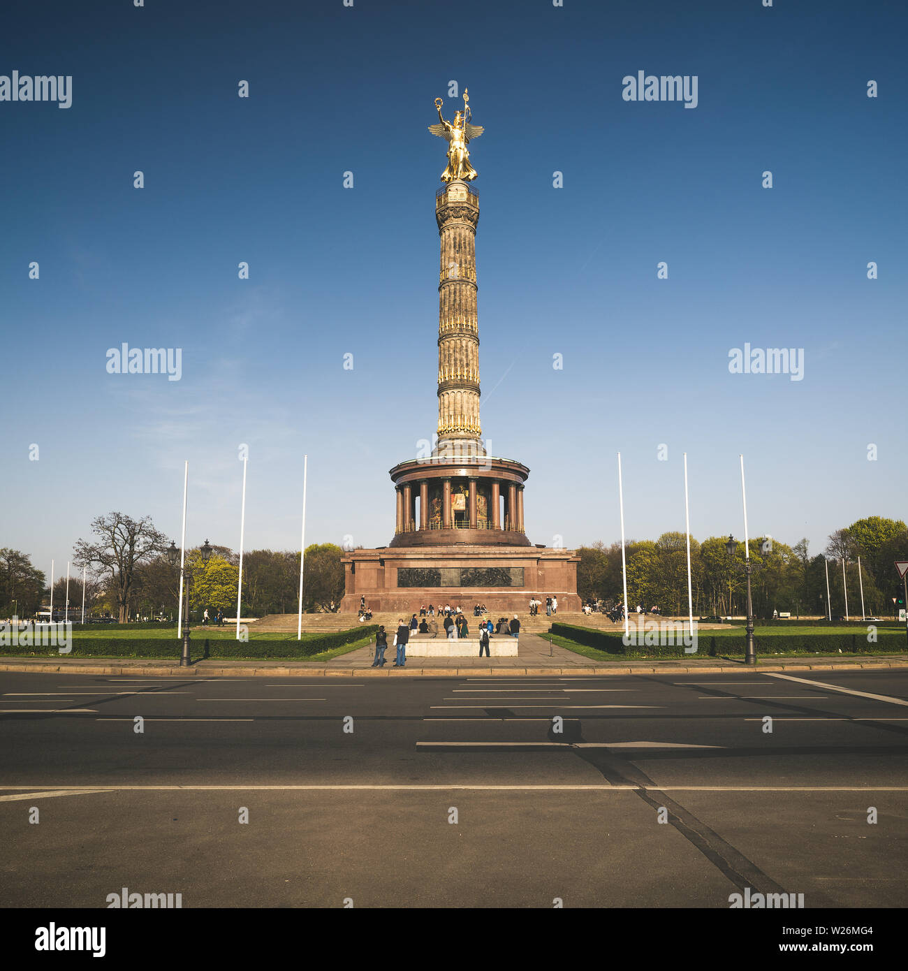 Victory monument (Siegessauele) in Berlin - Stock Image