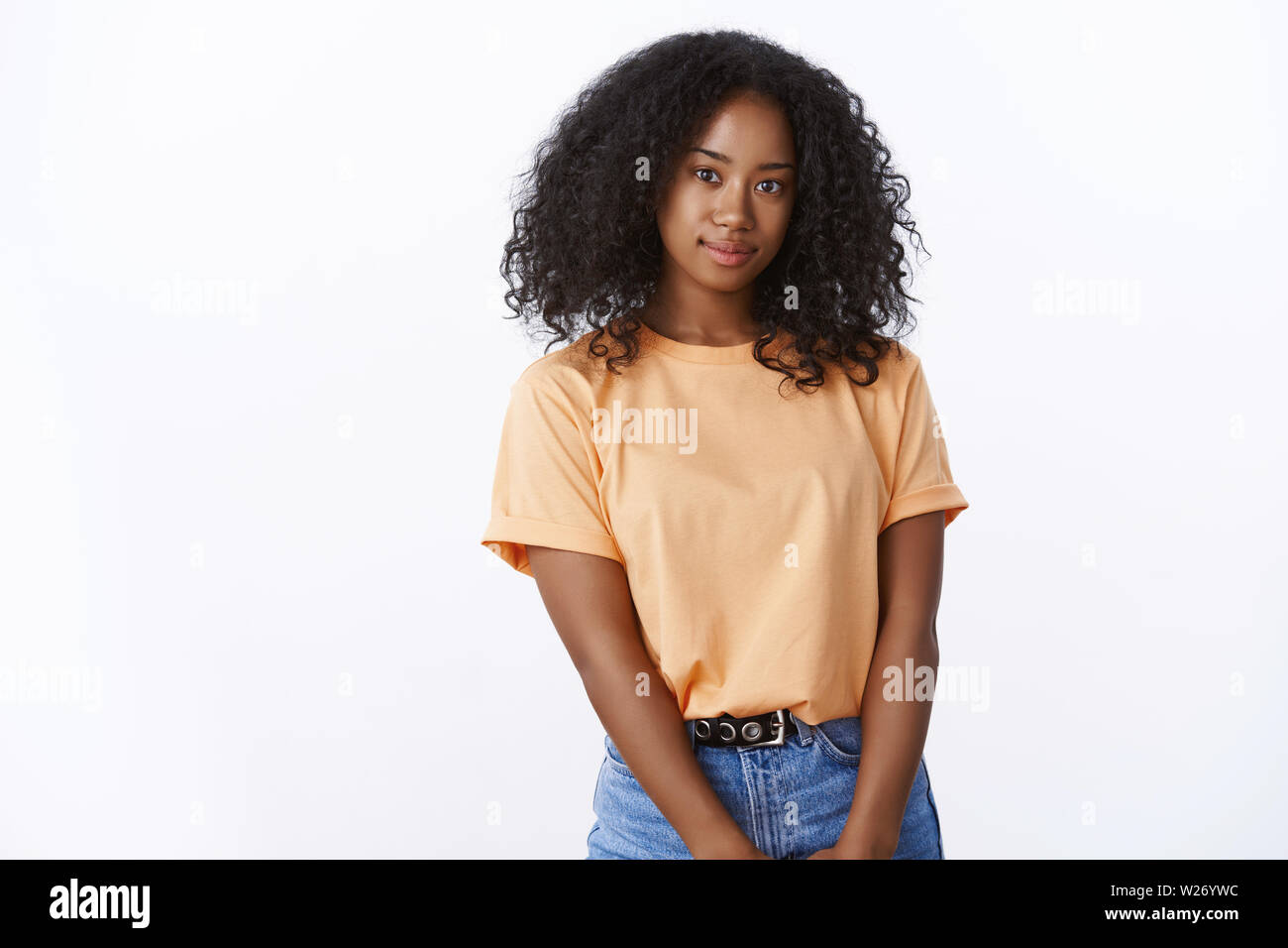 Attractive Lovely African American Girl University Student