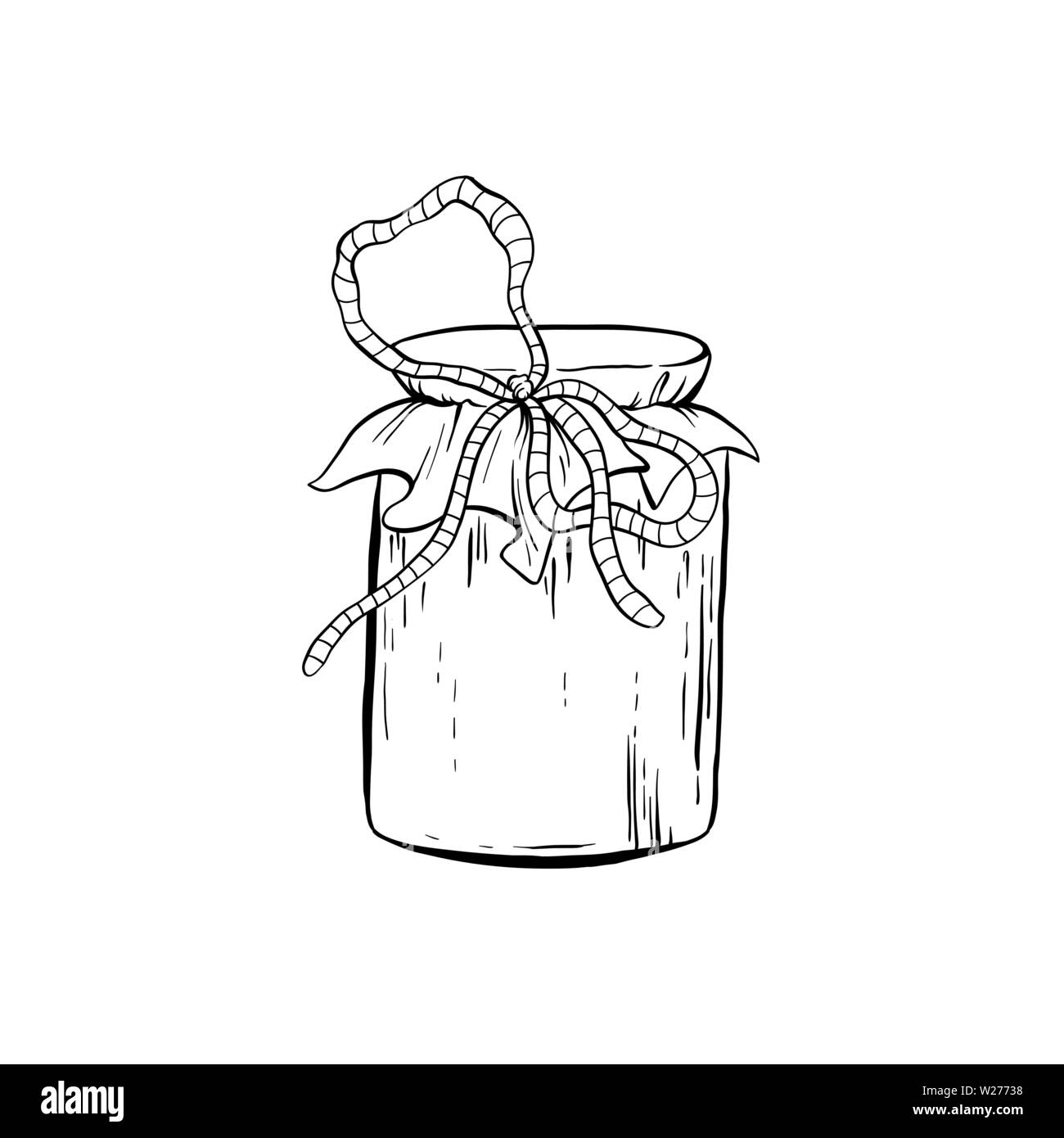 honey sketch glass jar with canned sweet food isolated vector illustration for logo design or poster W27738