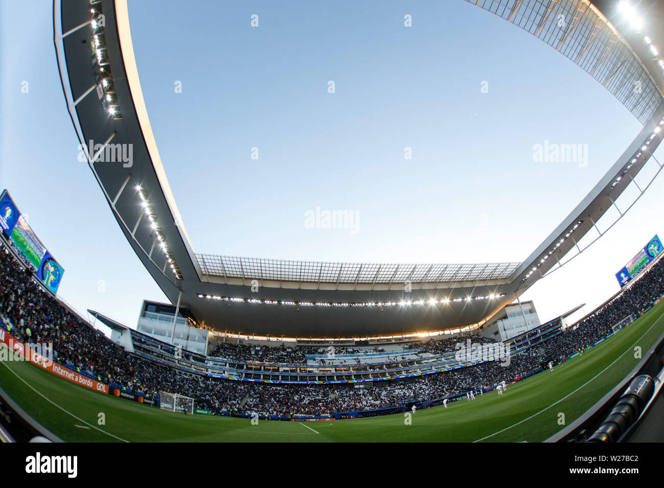 SÃO PAULO, SP - 06.07.2019: ARGENTINA VS. CHILE - Vision of Corinthians Arena during match between Argentina and Chile, valid for the dispute of the third place of Copa América 2019, held this Saturday (06) at the Corinthians Arena in São Paulo, SP. (Photo: Ricardo Moreira/Fotoarena) - Stock Image