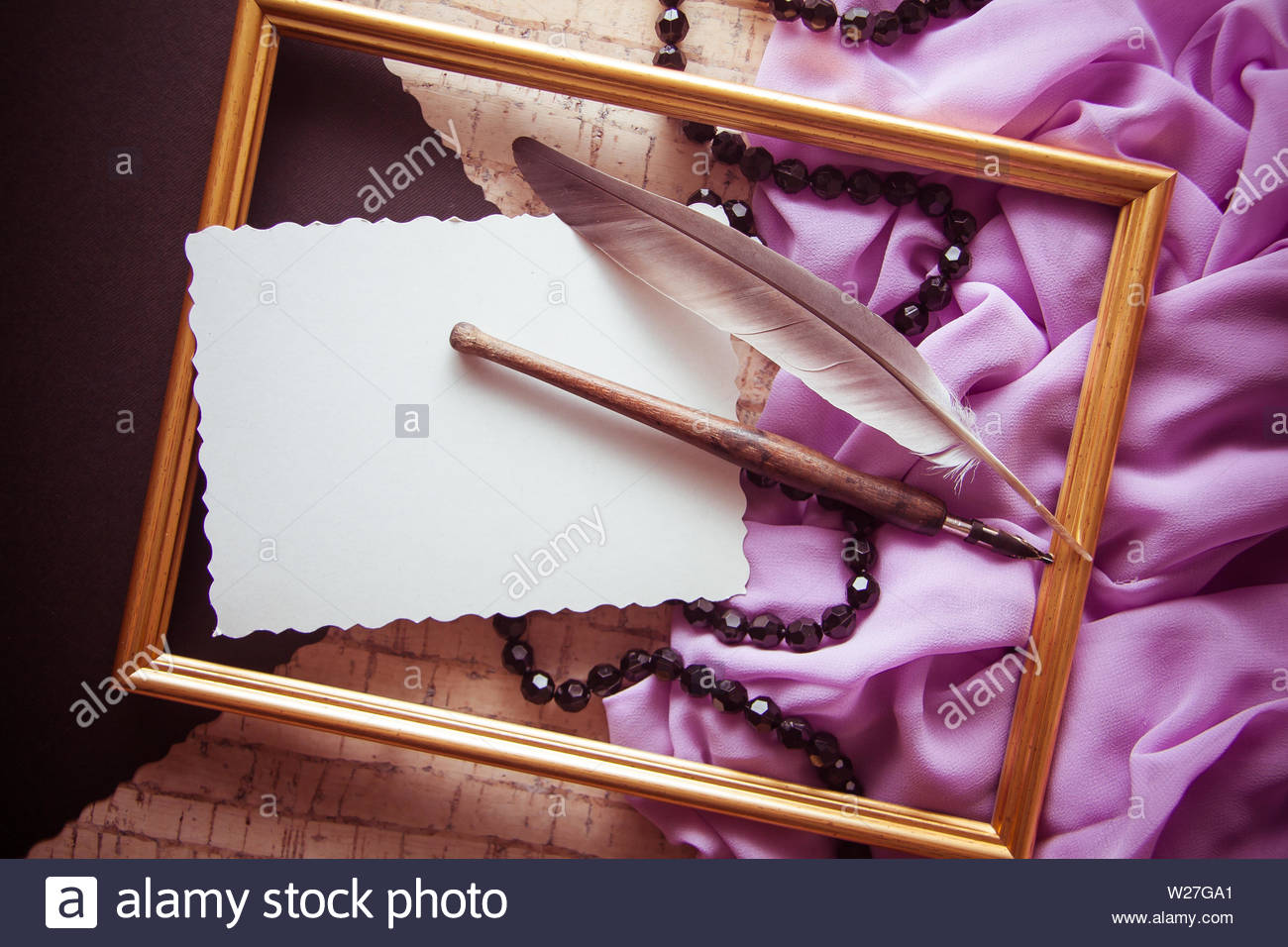 positive artistic background for design and illusrating, poetry & craftsmanship concept - Stock Image