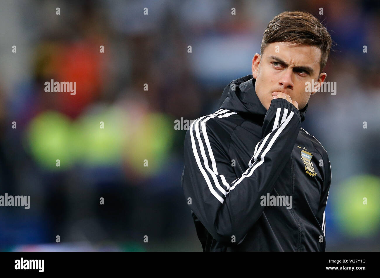 SÃO PAULO, SP - 06.07.2019: ARGENTINA VS. CHILE - Paulo Dybala from Argentina during a match between Argentina and Chile, valid for the third place match of Copa America 2019, held this Saturday (06) at the Corinthians Arena in São Paulo, SP. (Photo: Marcelo Machado de Melo/Fotoarena) - Stock Image
