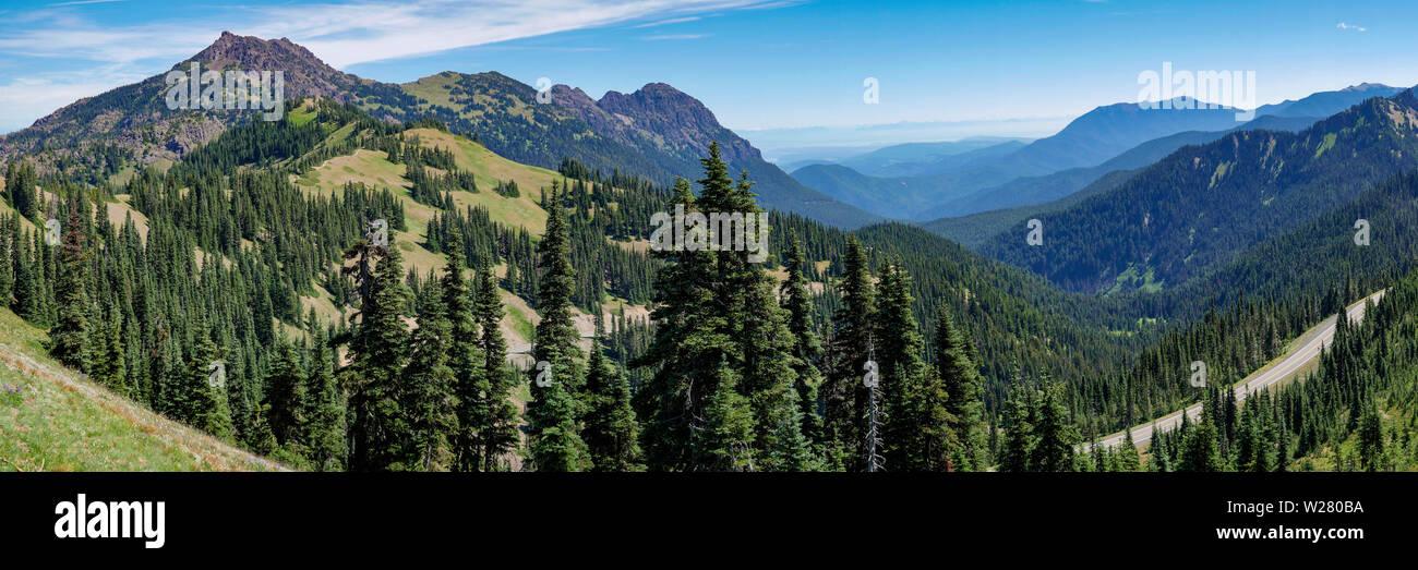 Hurricane Ridge, Olympic National Park, Washington, USA.  View from hiking trail. - Stock Image