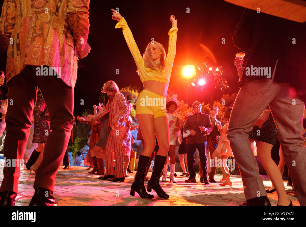 RELEASE DATE: August 9, 2019 TITLE: Once Upon a Time in Hollywood STUDIO: Columbia Pictures DIRECTOR: Quentin Tarantino PLOT: A TV actor and his stunt double embark on an odyssey to make a name for themselves in the film industry during the Charles Manson murders in 1969 Los Angeles. STARRING: MARGOT ROBBIE as Sharon Tate. (Credit Image: © Columbia Pictures/Entertainment Pictures) - Stock Image
