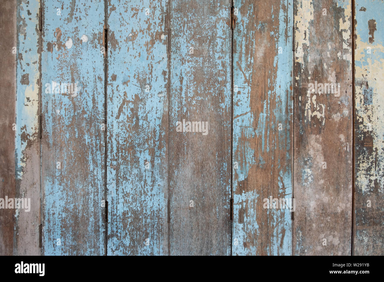 Rustic Old blue wooden background. wood planks. - Stock Image