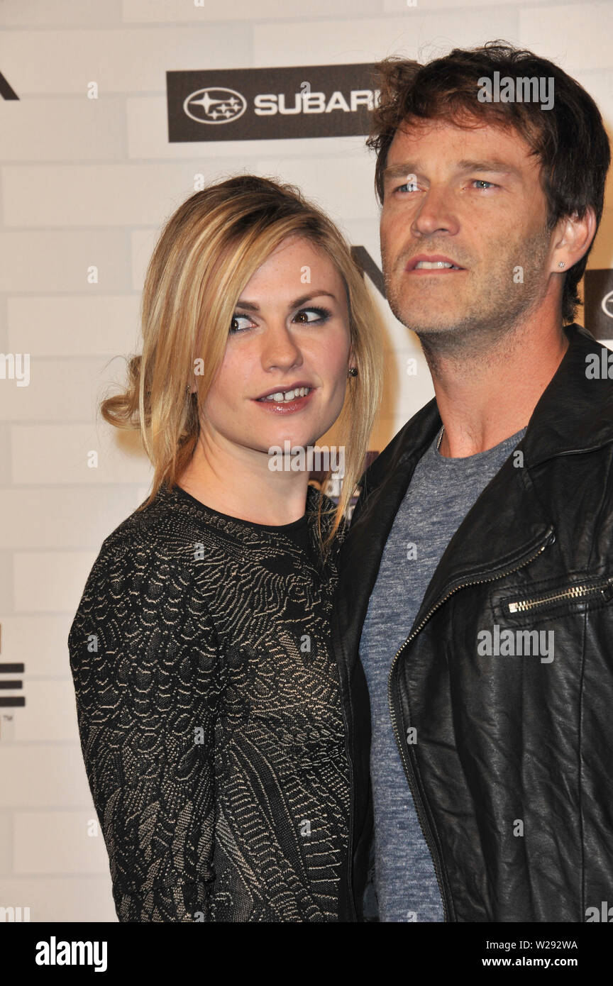 Stephen Moyer Wife Anna Paquin Stock Photos & Stephen Moyer Wife