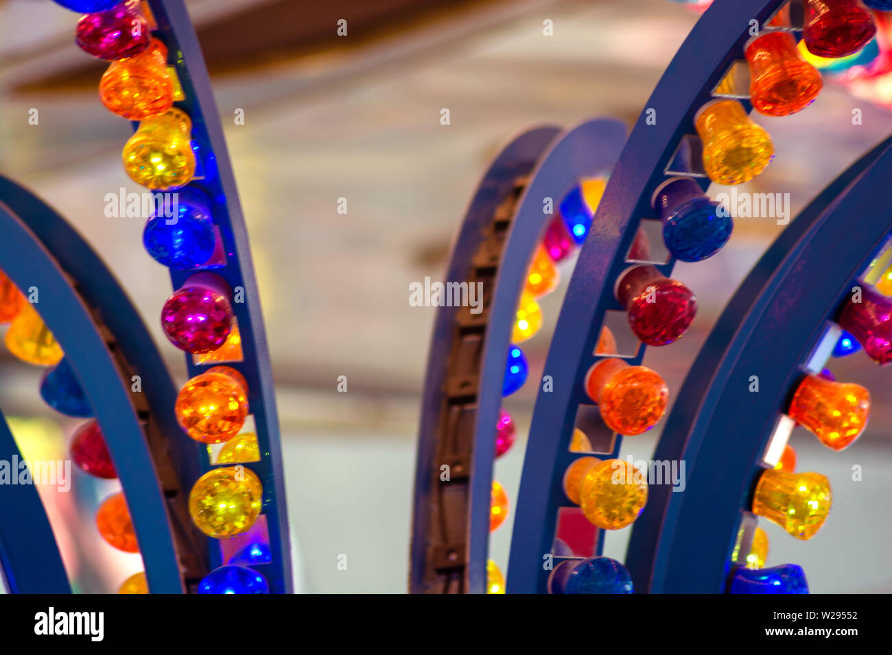 Concept funfair : Lights - Stock Image
