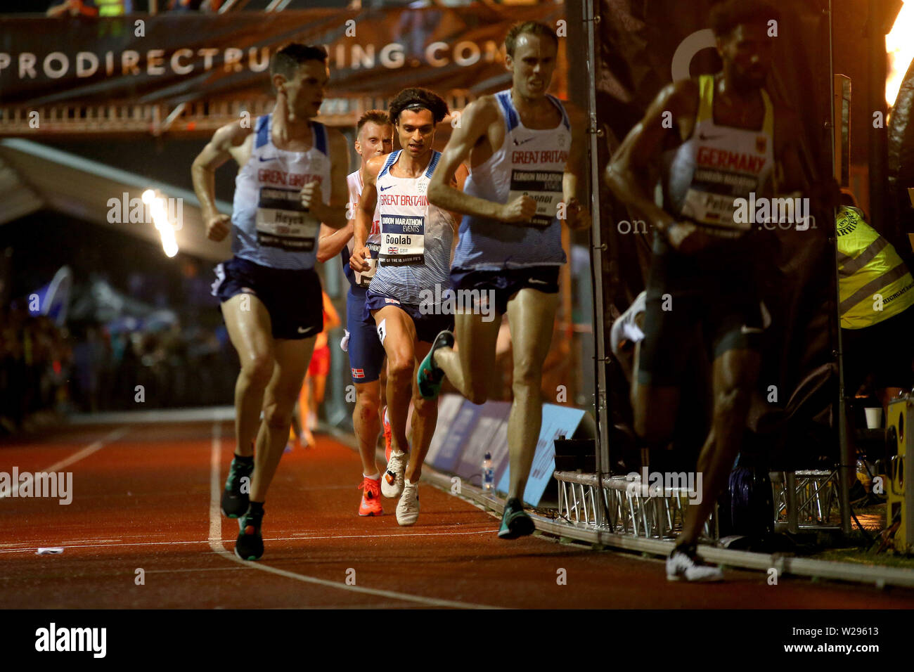 London, UK. 06th July, 2019. Nick Goolab of Great Britain Credit: at European 10,000m cup 2019, athletics event at Parliament Hill Athletics Track in Highgate, London on Saturday 6th July 2019. please note Editorial use only. pic by Tom Smeeth/Andrew Orchard sports photography./Alamy Live News Stock Photo