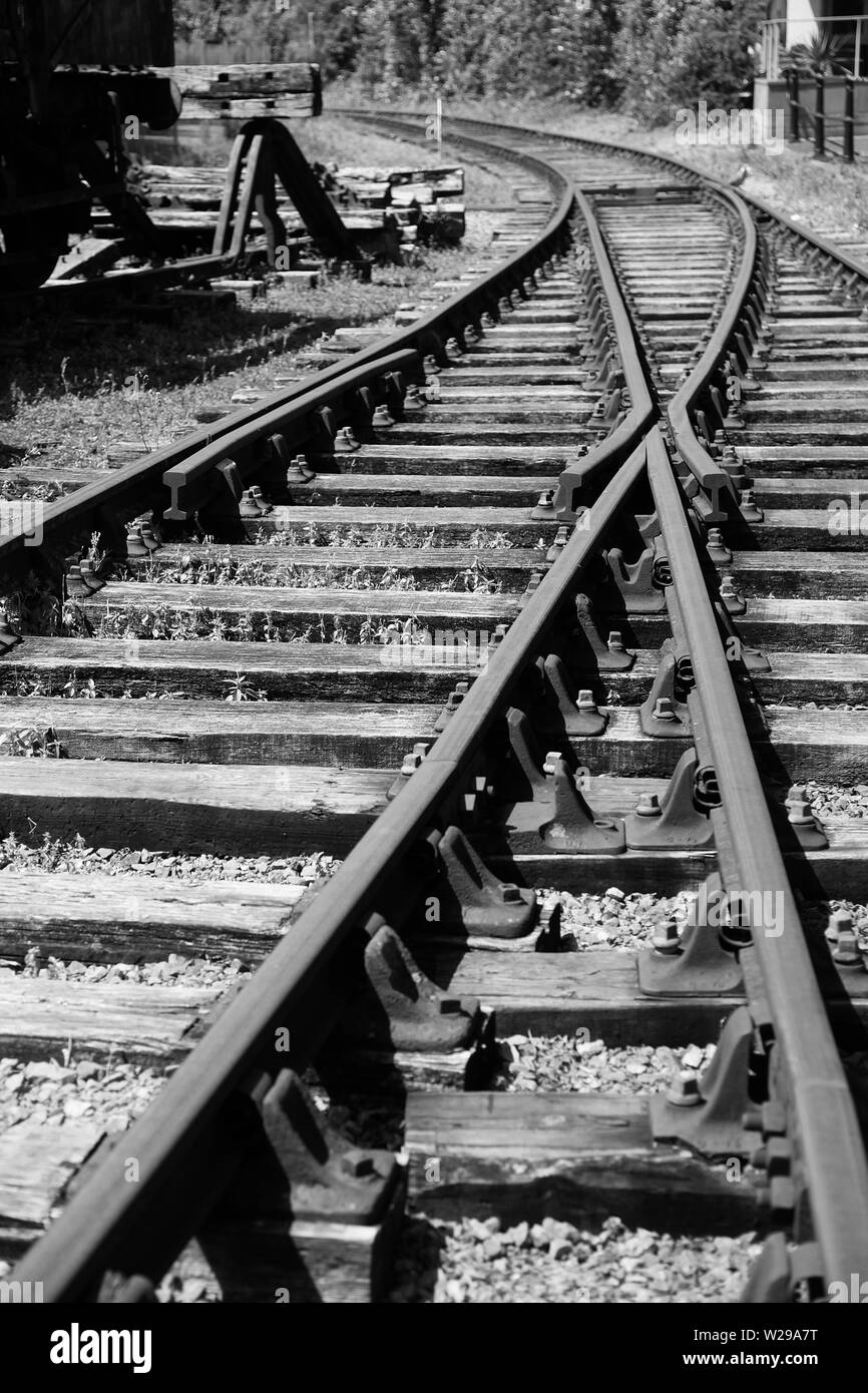 Along the tracks - Stock Image