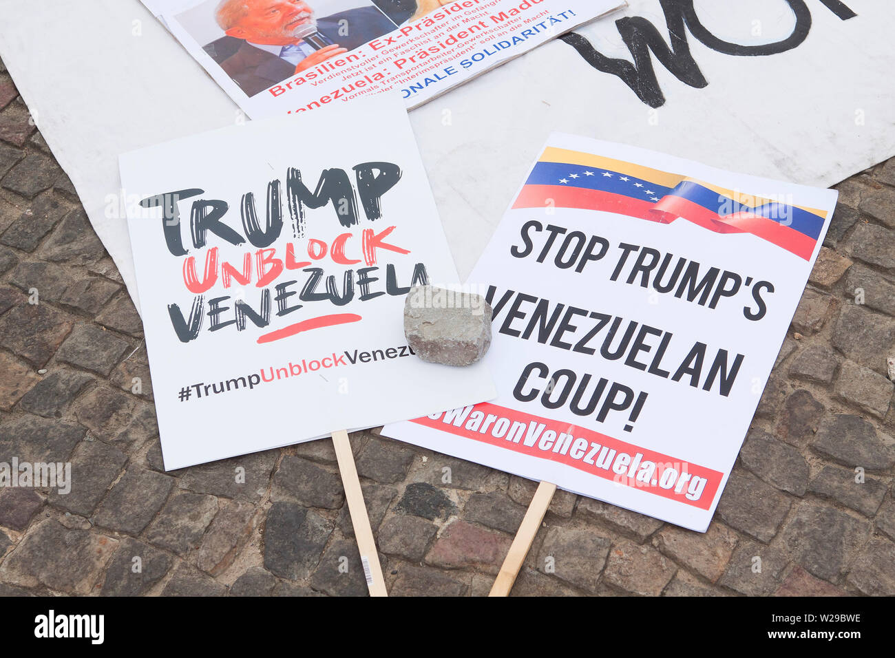 Protest against Trump - Stock Image