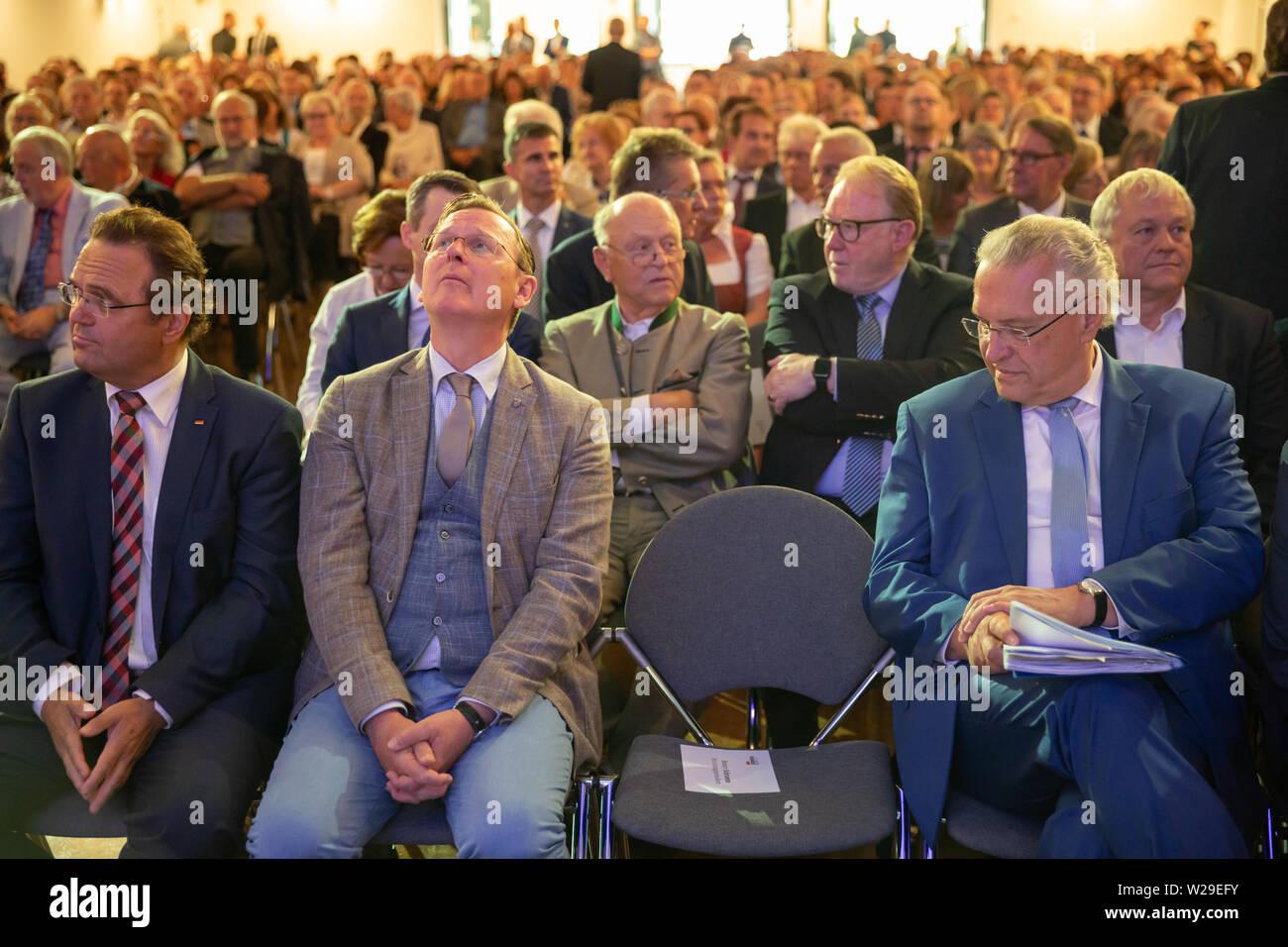 Sonneberg, Germany  07th July, 2019  Joachim Herrmann (CSU, r