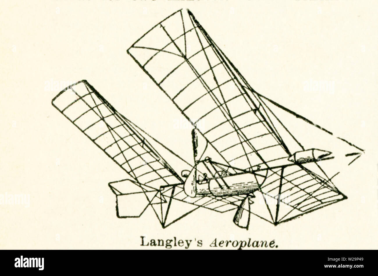 This Illustration Of Langley S Aeroplane Dates To The Early 1920s By Definition An Aeroplane Is A Flying Machine That Is Heavier Than Air And Sustained By Aid Of Propulsion From A Source