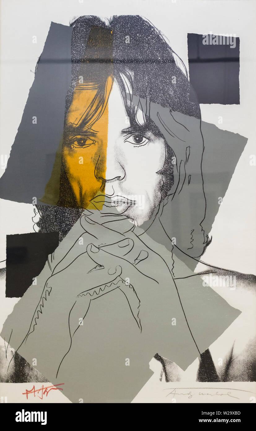 Mick Jagger, Andy Warhol - Stock Image