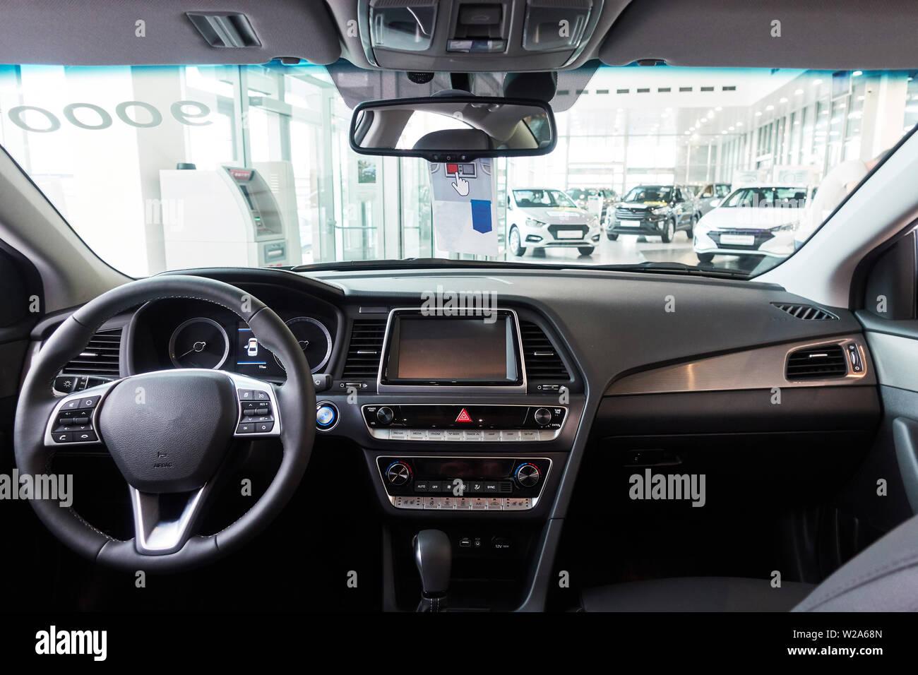 The Car Inside The Driver S Seat The Interior Of A Prestigious Modern Car New Car Inside Stock Photo Alamy