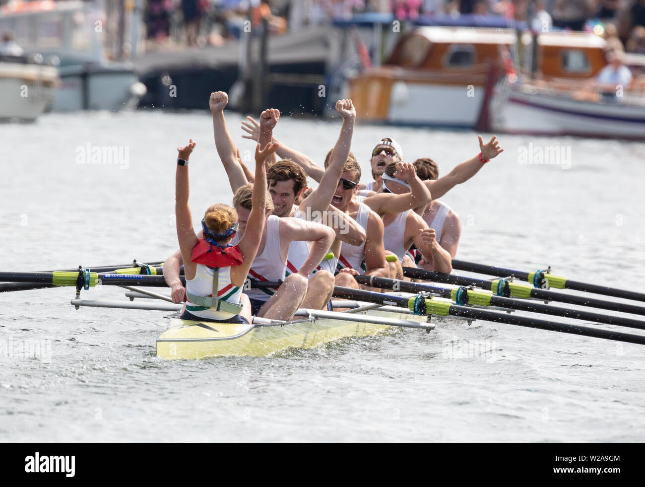 Henley on Thames, UK, 7th July 2019, Thames Rowing club A