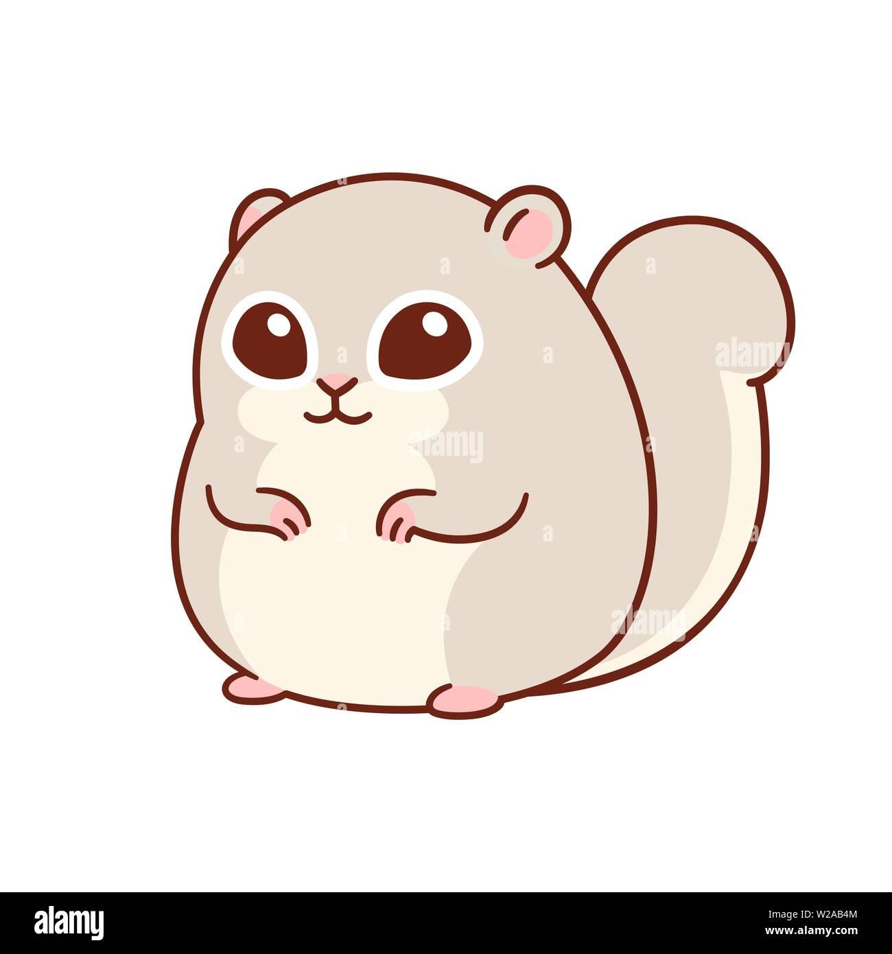 Ezo Momonga Japanese Dwarf Flying Squirrel Cute Drawing Kawaii