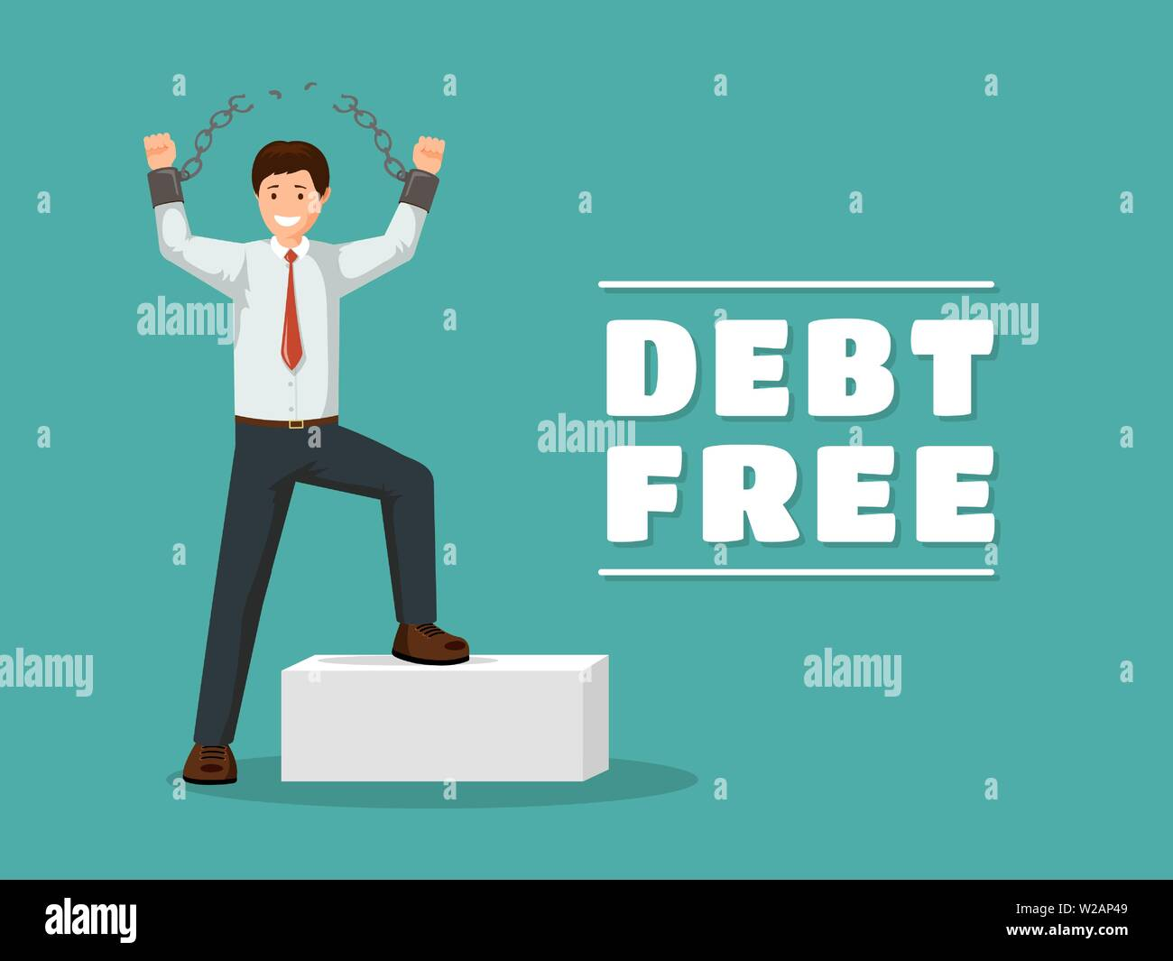 debt-free-flat-vector-poster-template-ch