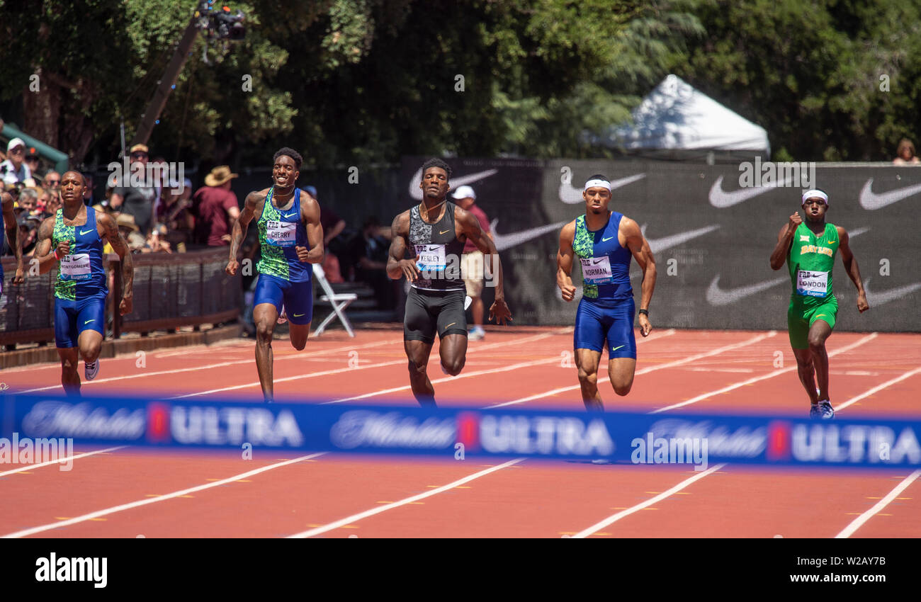 Men's 400m - IAAF Diamond League - Prefontaine Classic 2019 - Stock Image