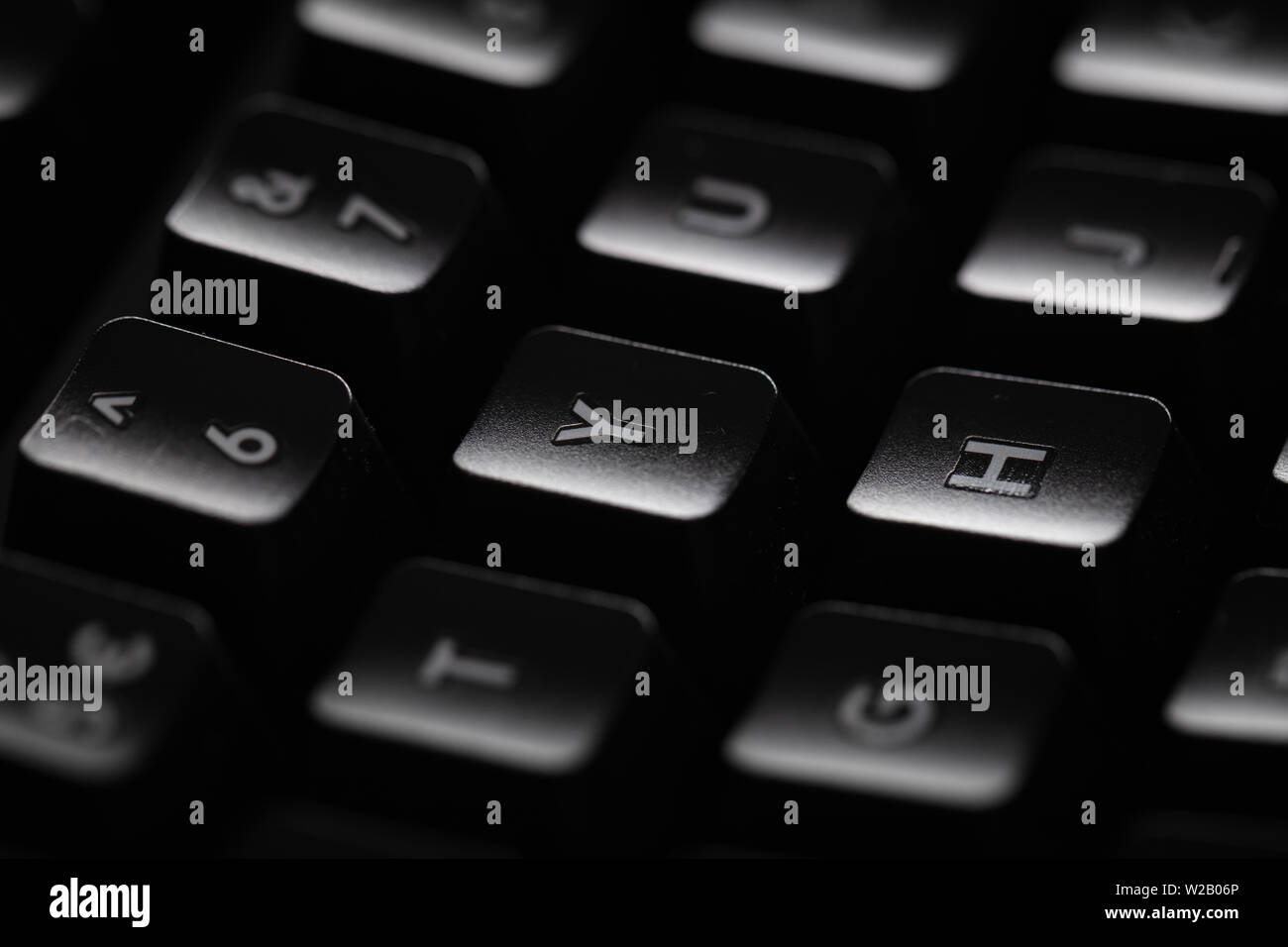Close-up of a black keyboard - Stock Image