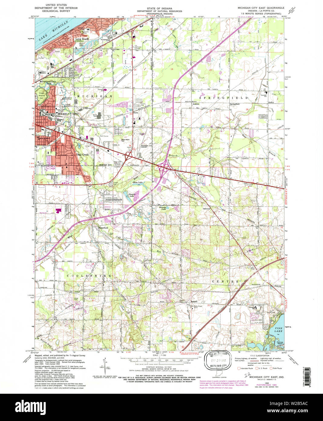 Usgs Topo Map Indiana In Michigan City East 160674 1969