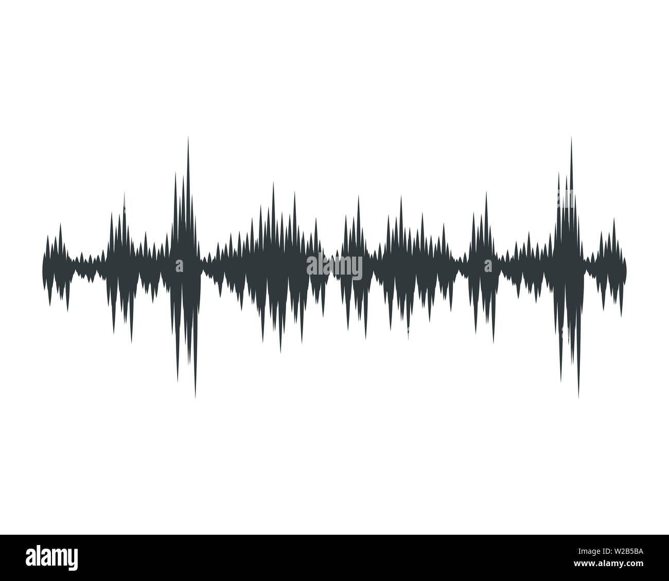 Sound waves vector illustration design template Stock Vector
