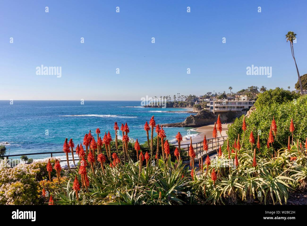 Laguna Beach Coastline in Orange County California - Stock Image