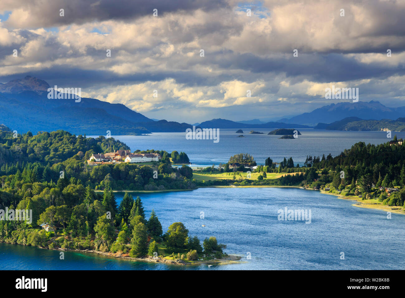 Argentina, Patagonia, Bariloche, Nahuel Huapi National Park, Llao Lllao historic Hotel - Stock Image