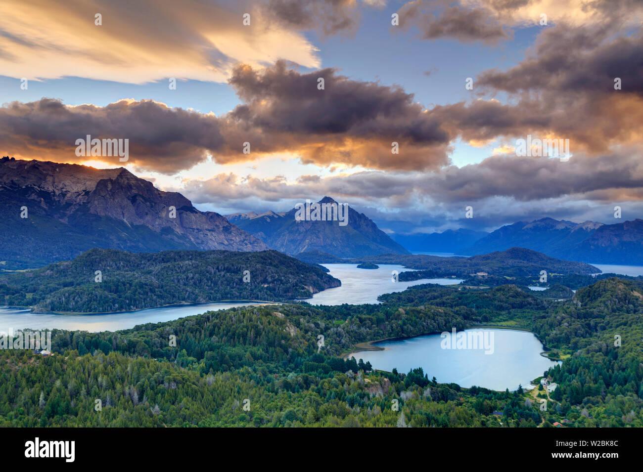 Argentina, Patagonia, Bariloche, Nahuel Huapi National Park, view from Cerro Campanario Peak - Stock Image