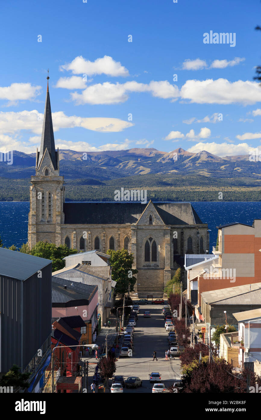 Argentina, Patagonia, Bariloche, Nuestra Senora de Nahuel Huapi Cathedral - Stock Image