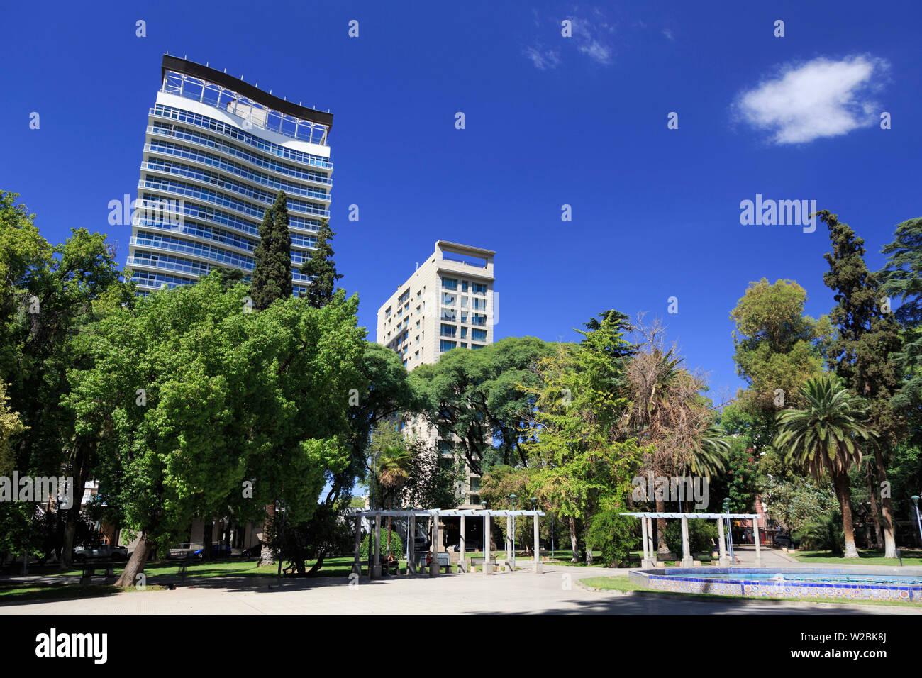 Argentina, Mendoza, Plaza Italia - Stock Image