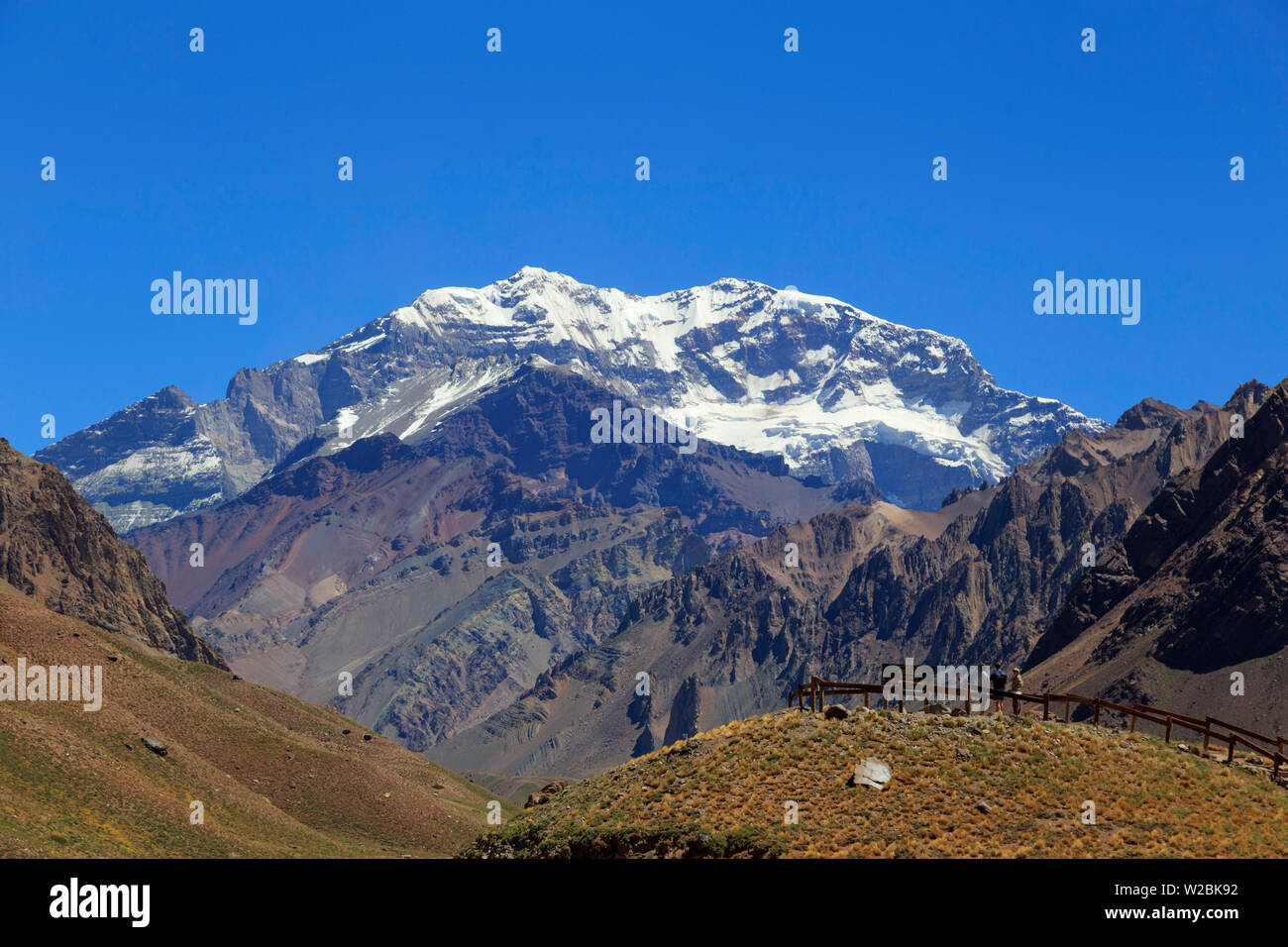 Argentina, Mendoza, Aconcagua Pronvicial Park, Mt Aconcagua (6692m tallest mountain outside the Himalayan Range) - Stock Image