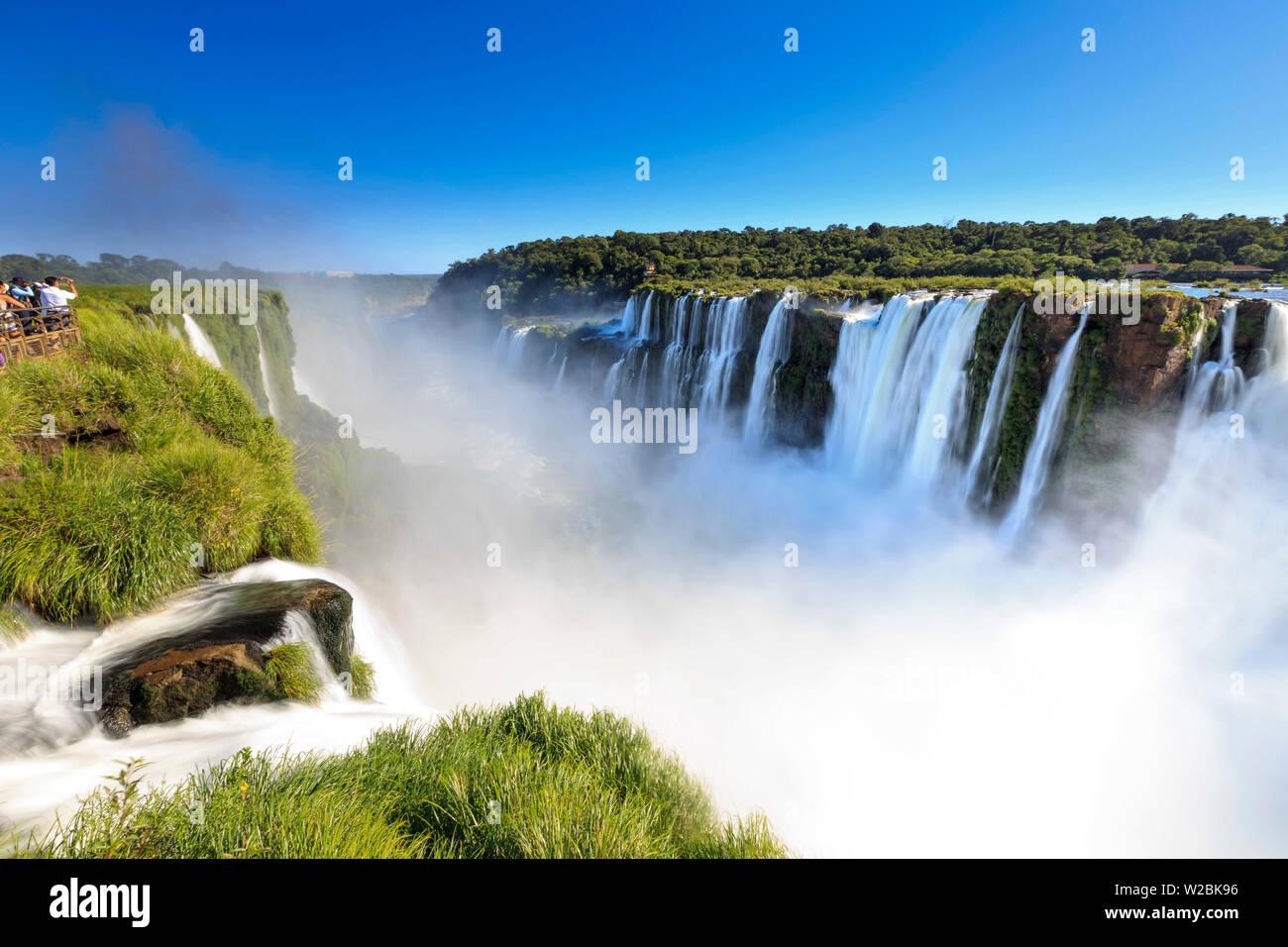 Argentina, Iguazu Falls National Park, (UNESCO Site), Devil's Throat - Stock Image