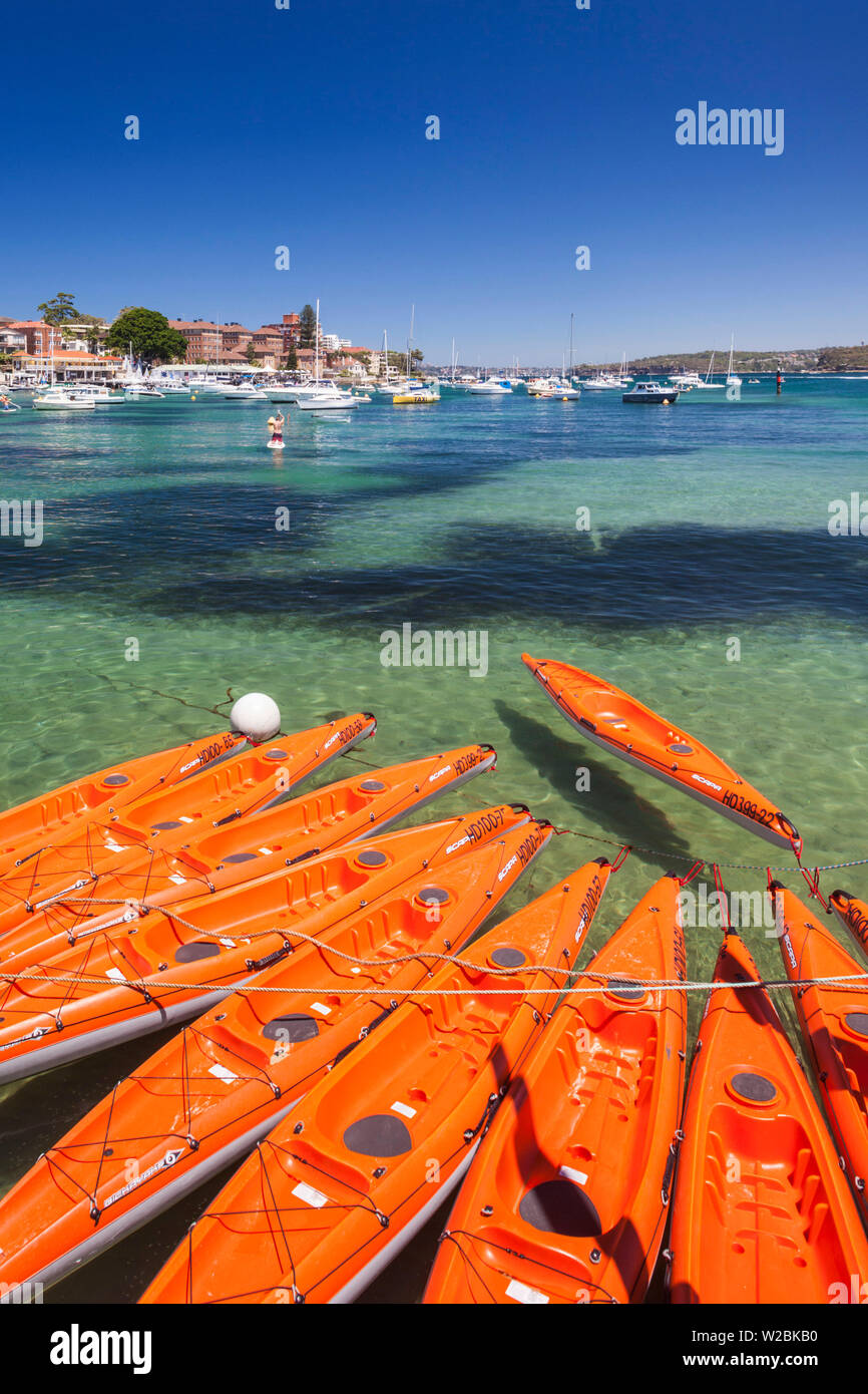 Australia, New South Wales, NSW, Sydney, Manly, Manly Cove, kayaks - Stock Image