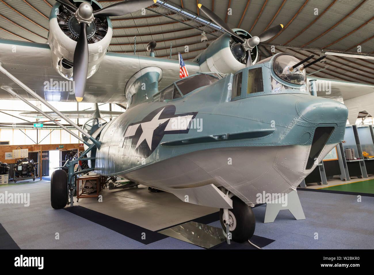 Australia, Western Australia, Bull Creek, RAAF Aviation Heritage Museum, WW2-era PBY Catalina seaplane Stock Photo