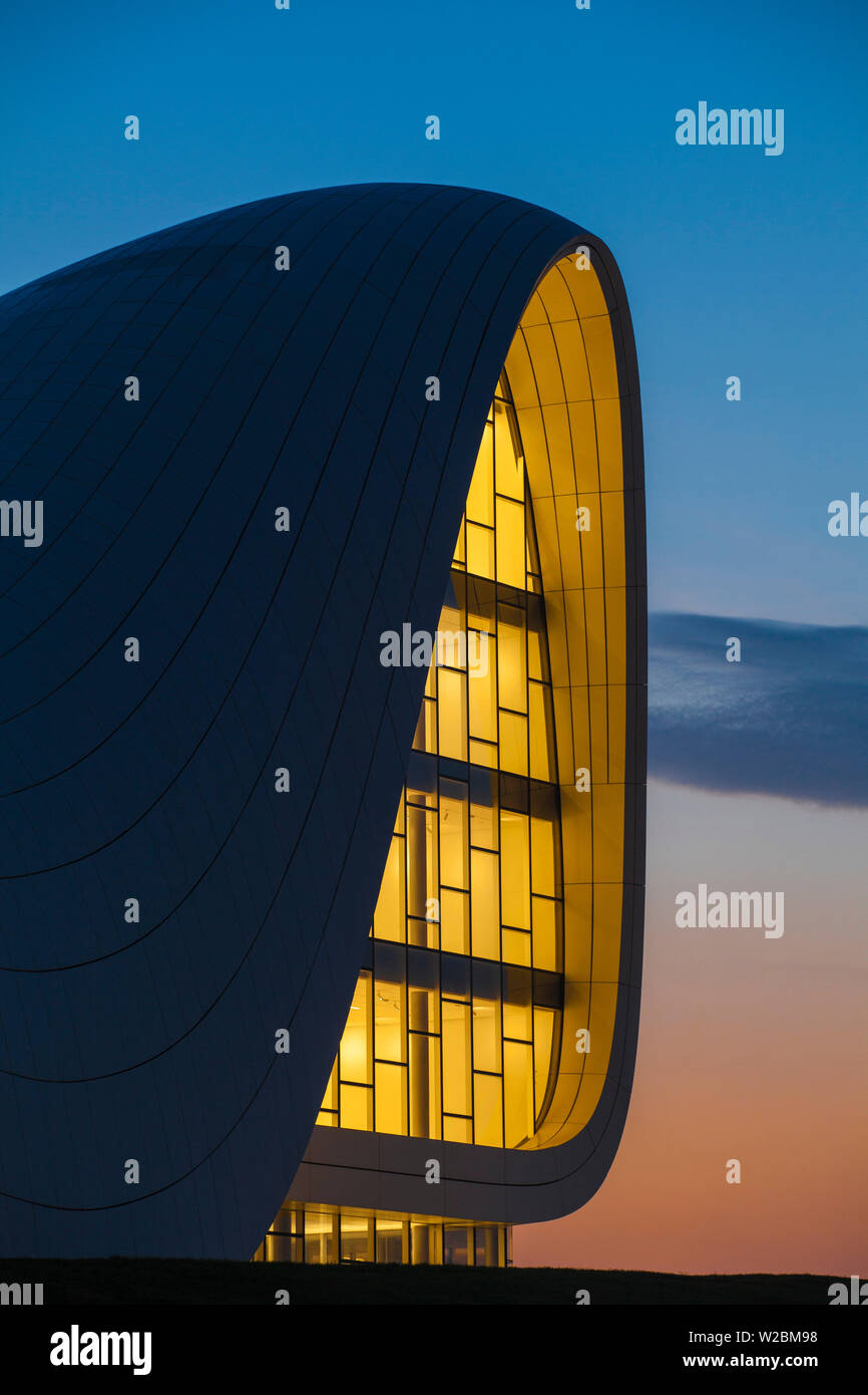Azerbaijan, Baku, Heydar Aliyev Cultural Center - a Library, Museum and Conference center - Stock Image