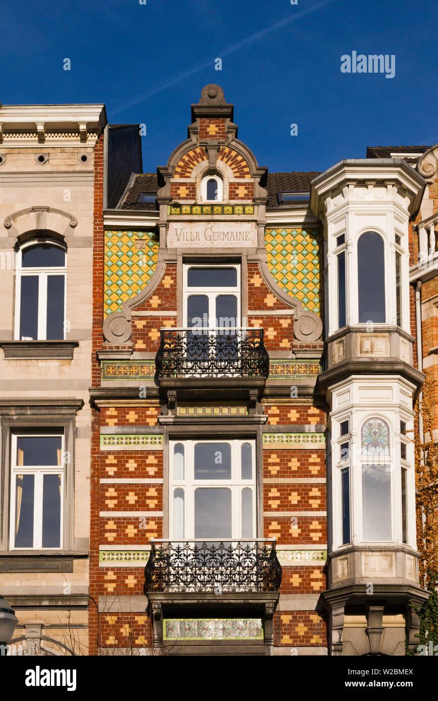 Belgium, Brussels, art-nouveau architecture, Hotel Van Eetvelde, once home to Baron Van Eetvelde, Minister for the Belgian Congo - Stock Image