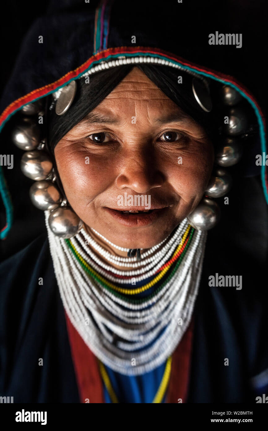 Akha woman, hill-tribe, nr Kyaing Tong, Golden Triangle