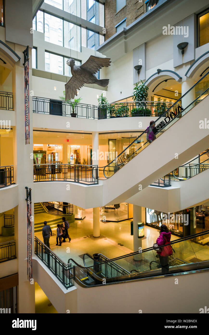 Canada, Quebec, Montreal, Les Cours Mont-Royal, shopping center Stock Photo
