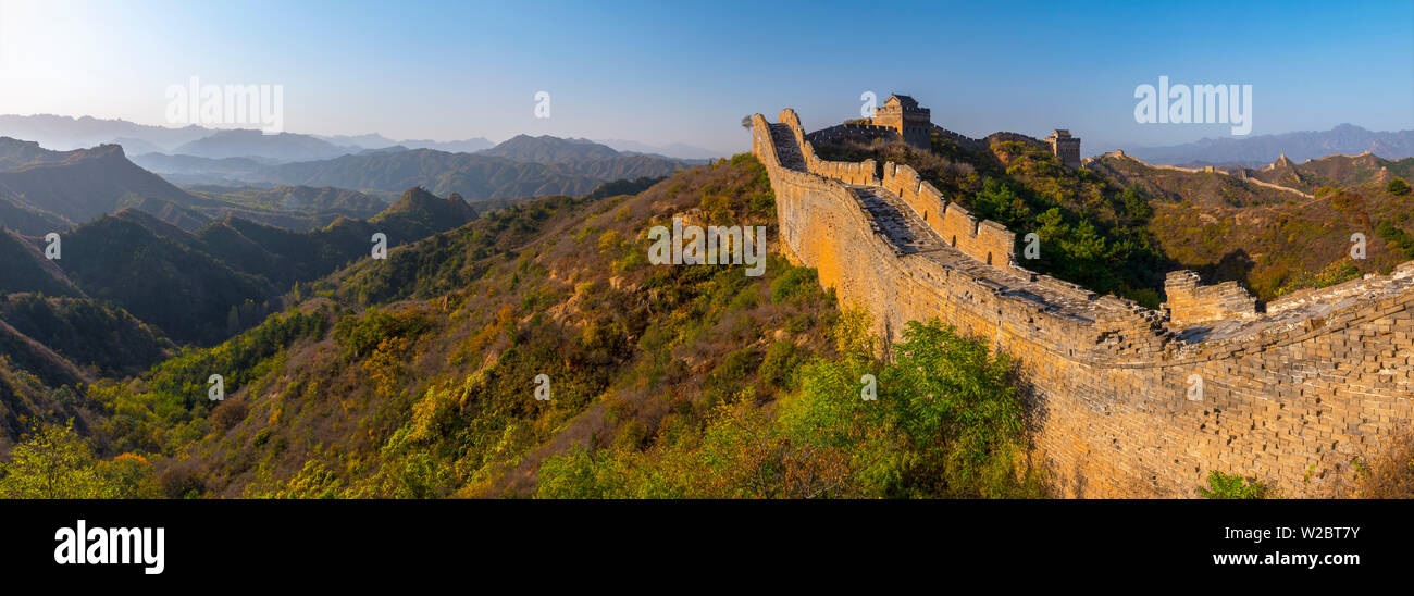China, Hebei Province, Luanping County, Jinshanling, Great Wall of China (UNESCO World Heritage Site) from Ming Dynasty - Stock Image