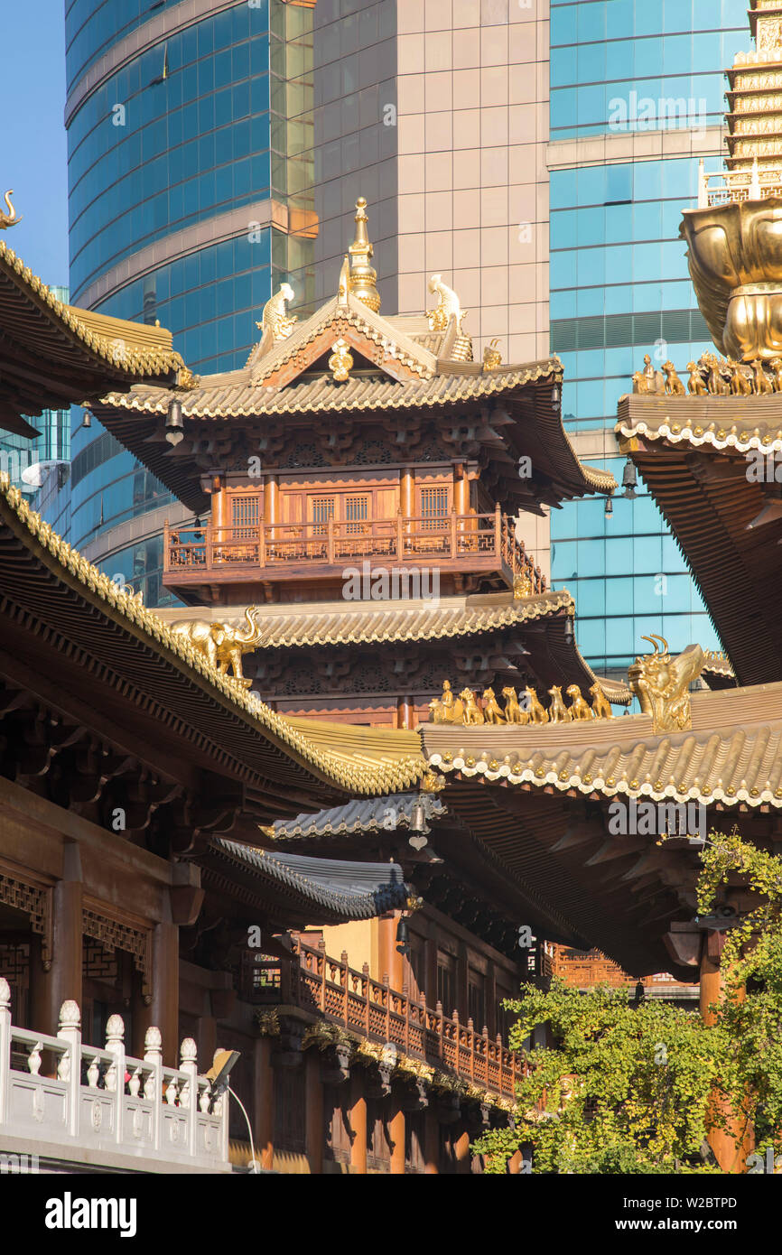 Jing'An temple, Shanghai, China - Stock Image