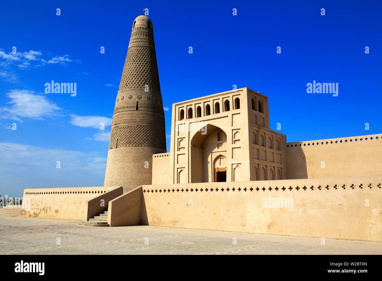 Emin Minaret (1779), Turpan, Turpan Prefecture, Xinjiang Uyghur Autonomous Region, China - Stock Image