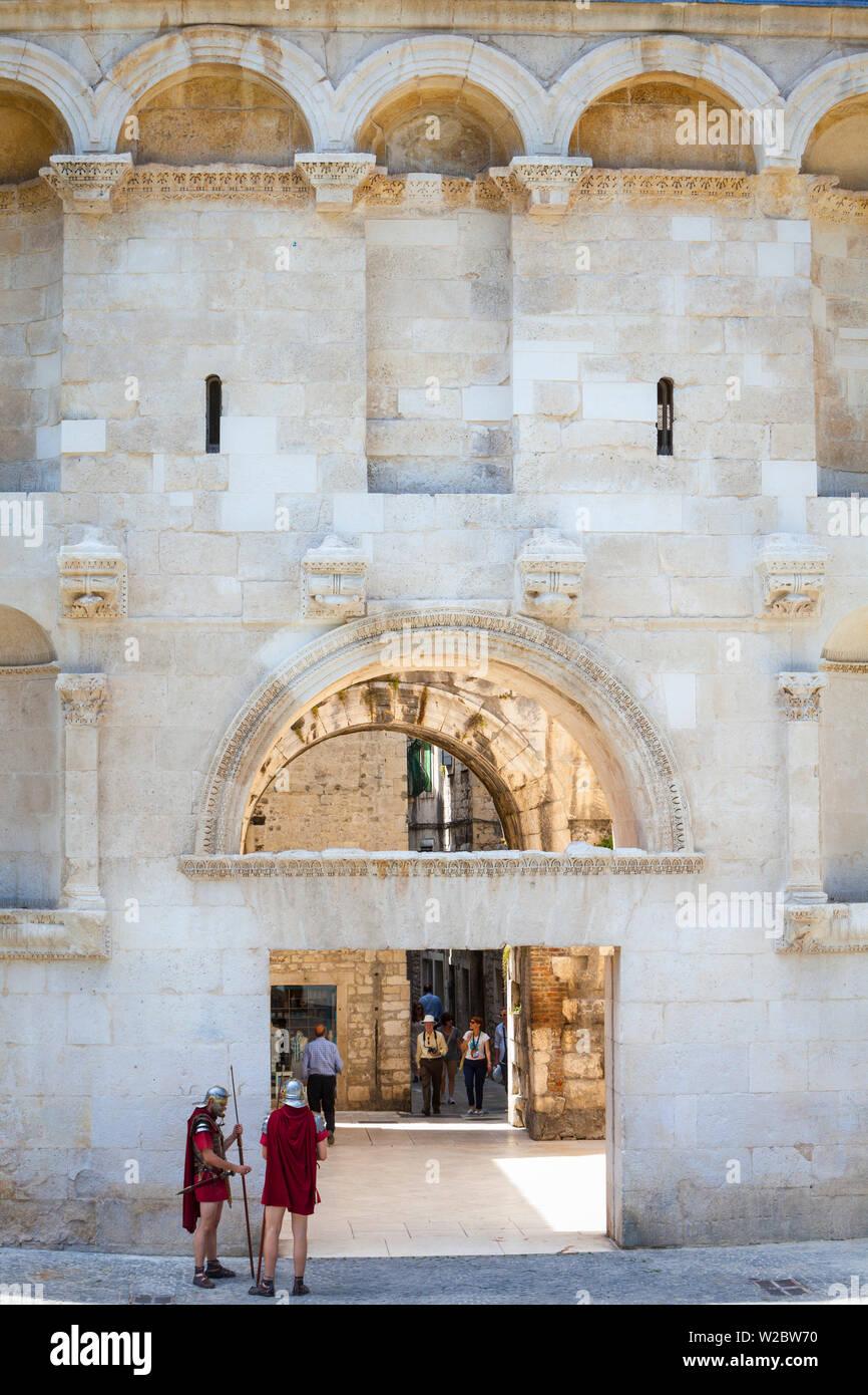 The Goldern Gate, Stari Grad (Old Town), Split, Dalmatia, Croatia - Stock Image