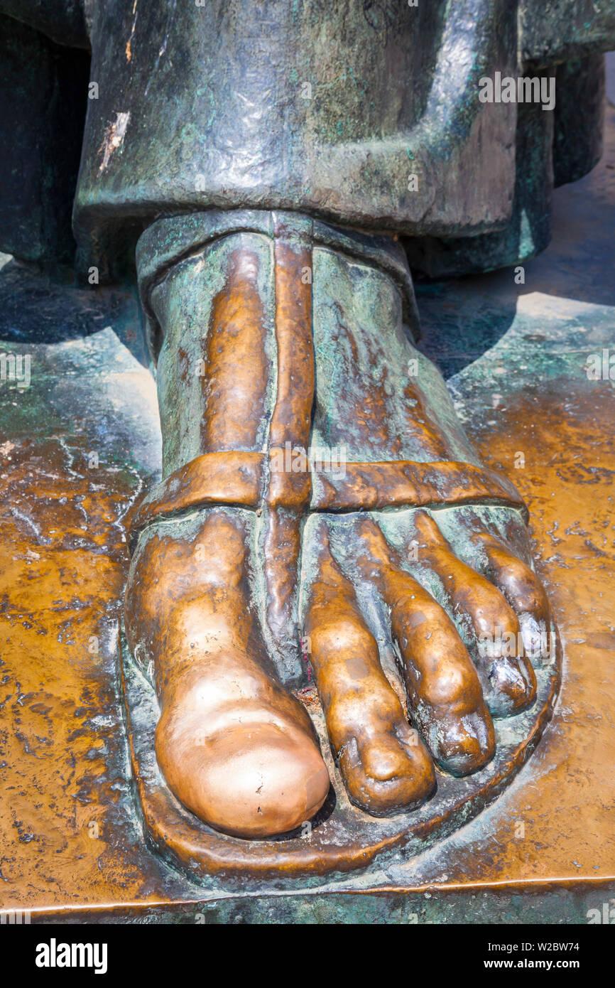 Detail of the Bishop Gregory of Nin (Grgur Ninski) Statue, Split, Dalmatia, Croatia - Stock Image