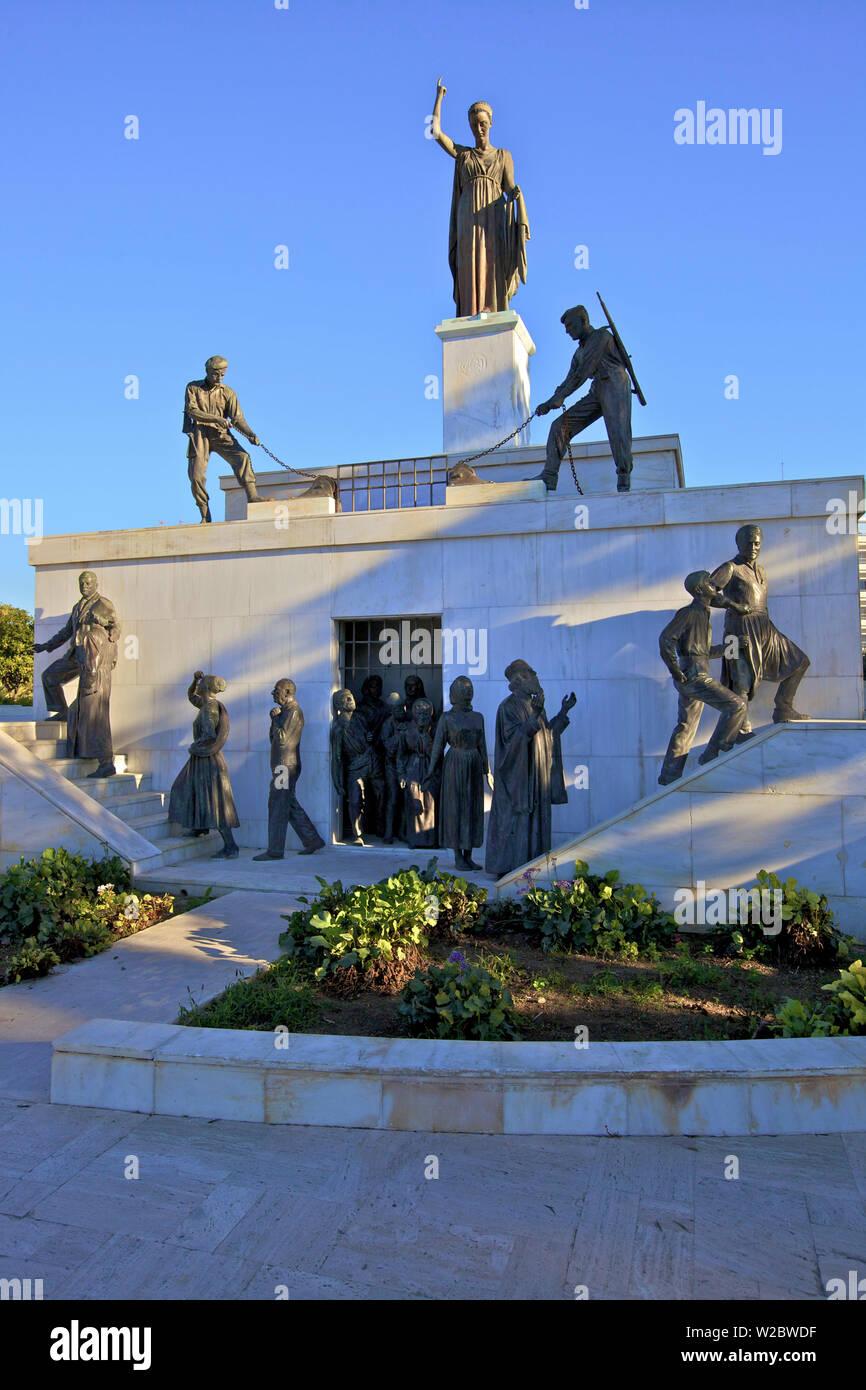 Podocataro Bastion and Liberty Monument, South Nicosia, Cyprus, Eastern Mediterranean Sea - Stock Image