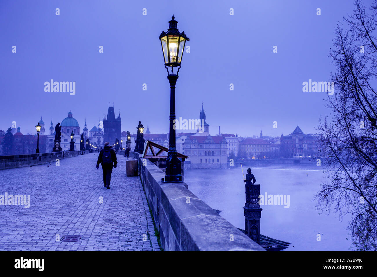 Charles Bridge, (Karluv most), Prague, Czech Republic - Stock Image