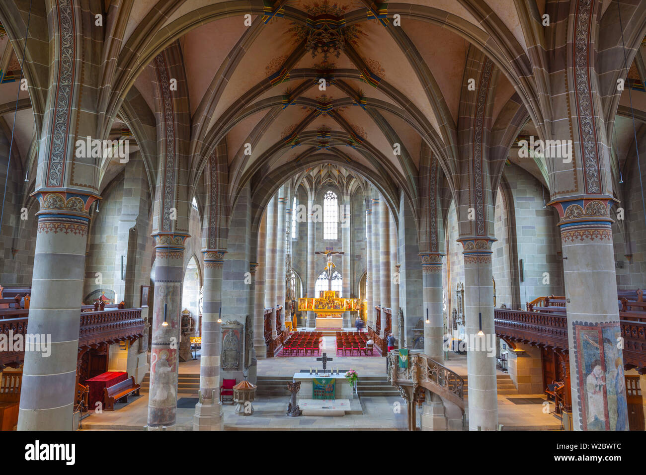 Interior of St Michael's Church, Schwabish Hall, Baden Wurttemberg, Germany Stock Photo