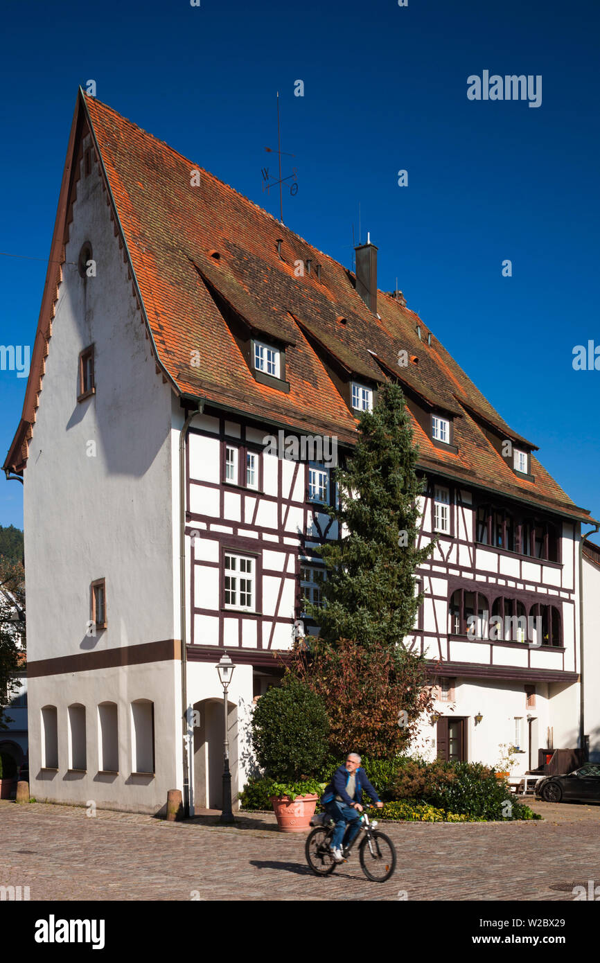 Germany, Baden-Wurttemburg, Black Forest, Haslach im Kinzigtal, traditional building details - Stock Image