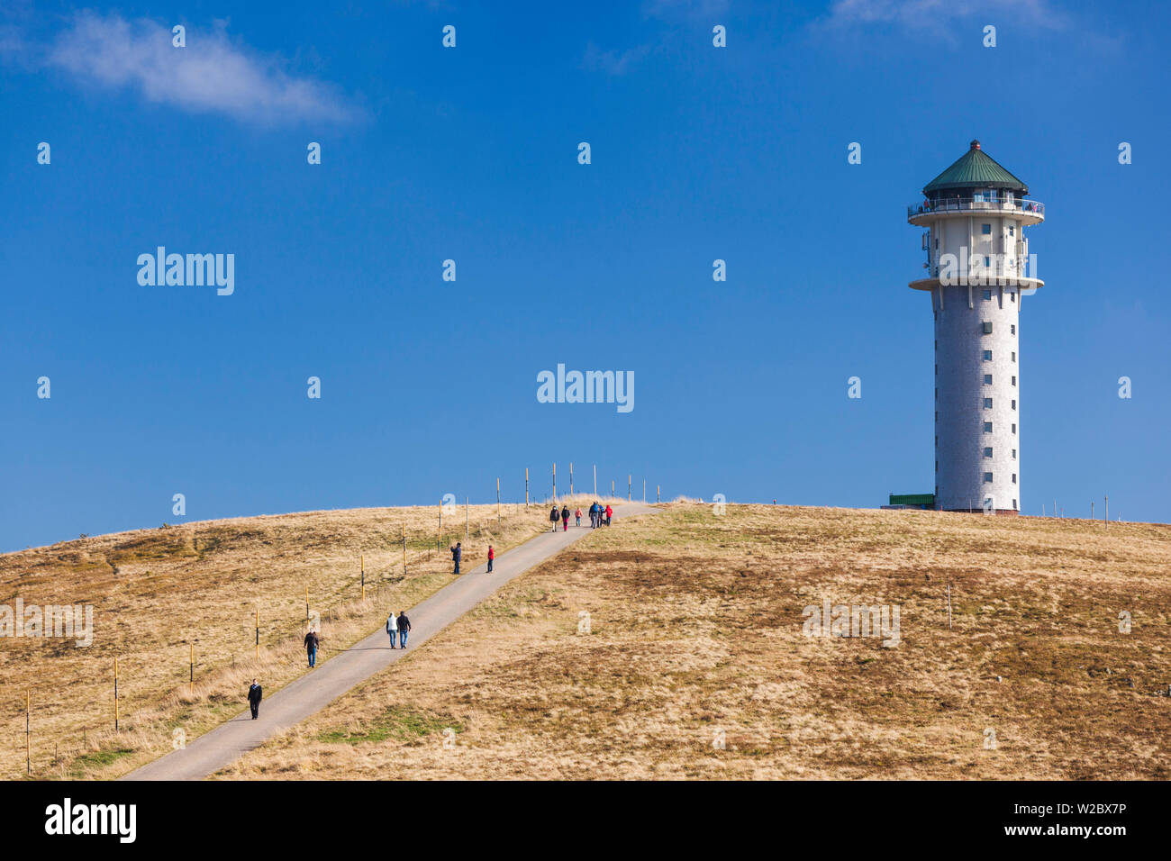 Germany, Baden-Wurttemburg, Black Forest, Feldberg Mountain, mountain lookoout tower Stock Photo