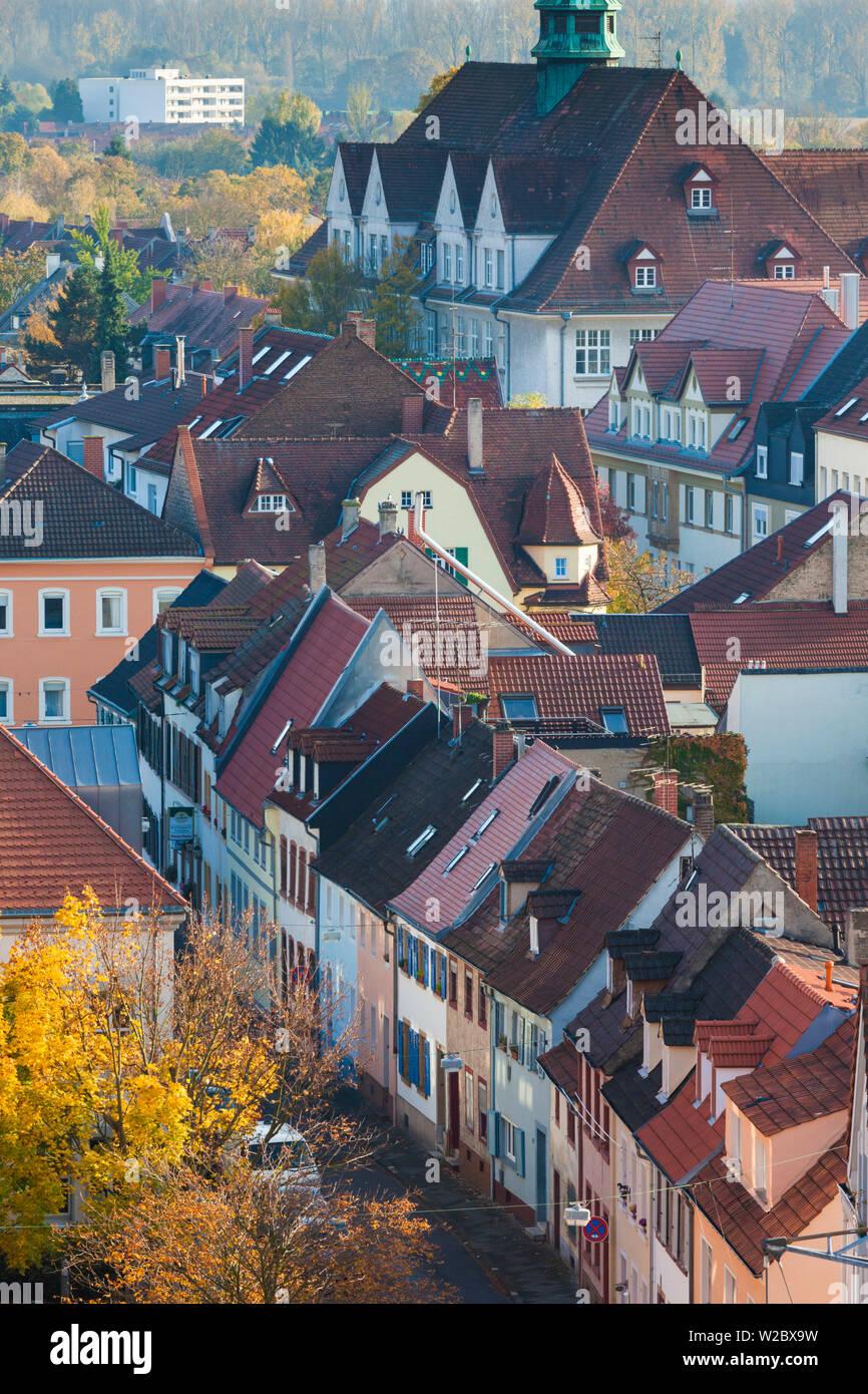 Germany, Rheinland-Pfalz, Speyer, elevated city view Stock Photo