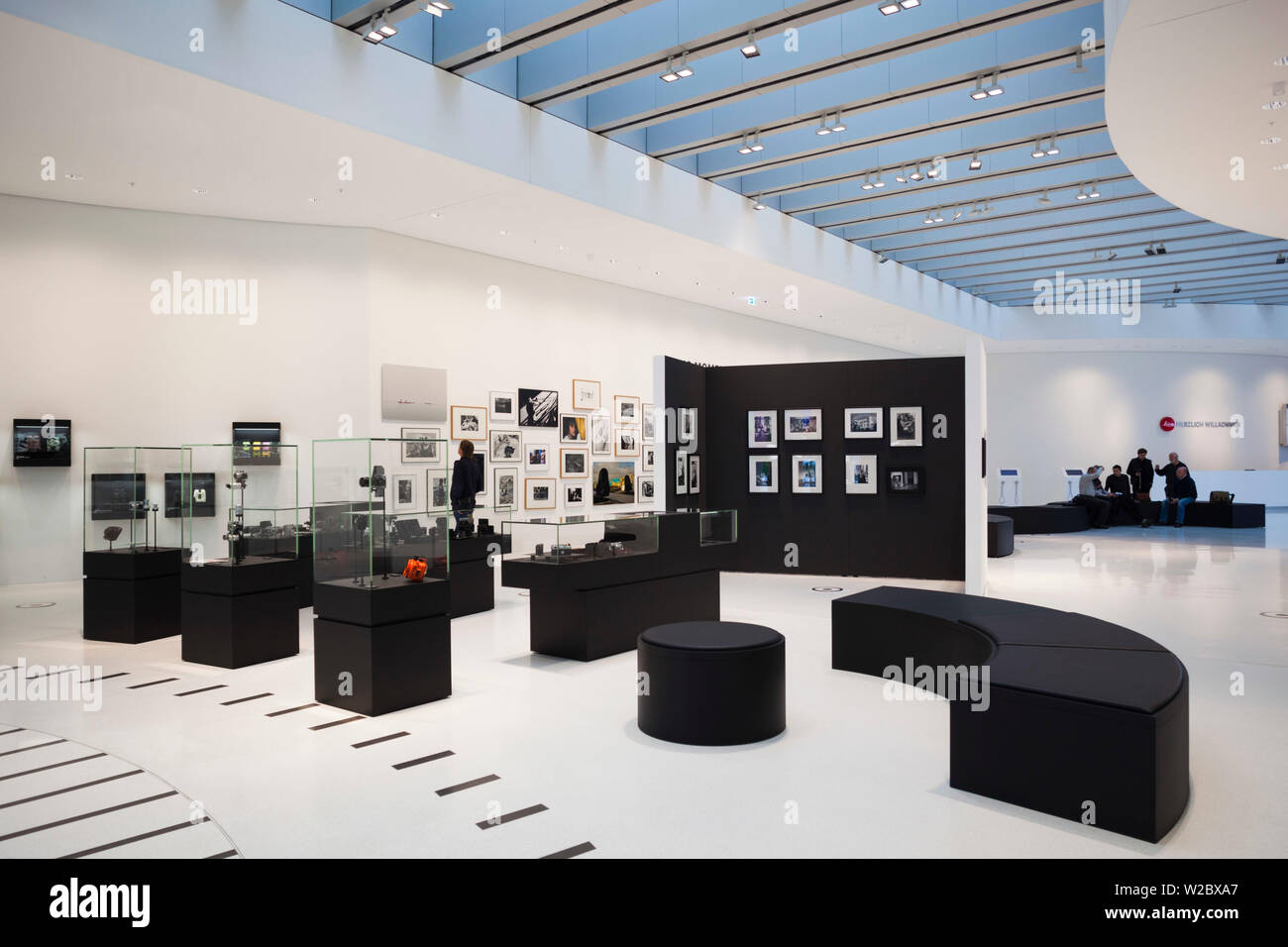 Germany, Hesse, Wetzlar, Headquarters of the Leica Camera Company, opened in 2014, interior galleries - Stock Image